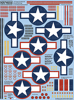 Kitsworld Kitsworld  - 1/32 Scale Decal Sheet B-25 Mitchell KW132047