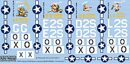 Kitsworld Kitsworld  - 1/144 Scale Decal Sheet B-24 Liberators KW144011
