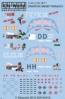 Kitsworld Kitsworld  - 1/144 Scale Decal Sheet Panavia Tornado GR1 KW144015