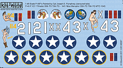 Kitsworld Kitsworld  - 1/48 Scale Decal Sheet P-40 Tomahawks KW148067