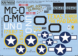 Kitsworld Kitsworld  - 1/48 Scale Decal Sheet P-38 Lightning
