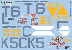 Kitsworld Kitsworld  - 1/48 Scale Decal Sheet B-26 Marauders KW148081