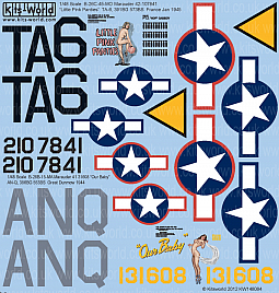 Kitsworld Kitsworld  - 1/48 Scale Decal Sheet B-26C Marauders KW148084