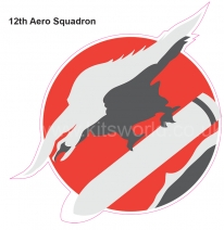 Kitsworld Self-adhesive vinyl transfers  USAAC - USAAF  12th Aero Squadron.