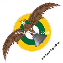 Kitsworld Self-adhesive vinyl transfers  USAAC - USAAF  8th Aero Squadron.