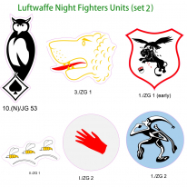 Kitsworld Self-adhesive vinyl transfers Luftwaffe Night fighters - set 2