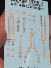 Kitsworld Kitsworld  - 1/24 Scale WWII RAF Sutton Harness Seat Belt Set.