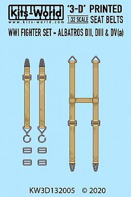 Kitsworld Kitsworld  - 1-32 WWI Fighter Albatross DII- DIII- DV(a) Seat Belt Set